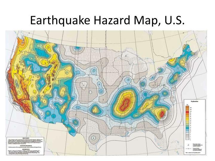 Earthquake Hazard Map, U.S.