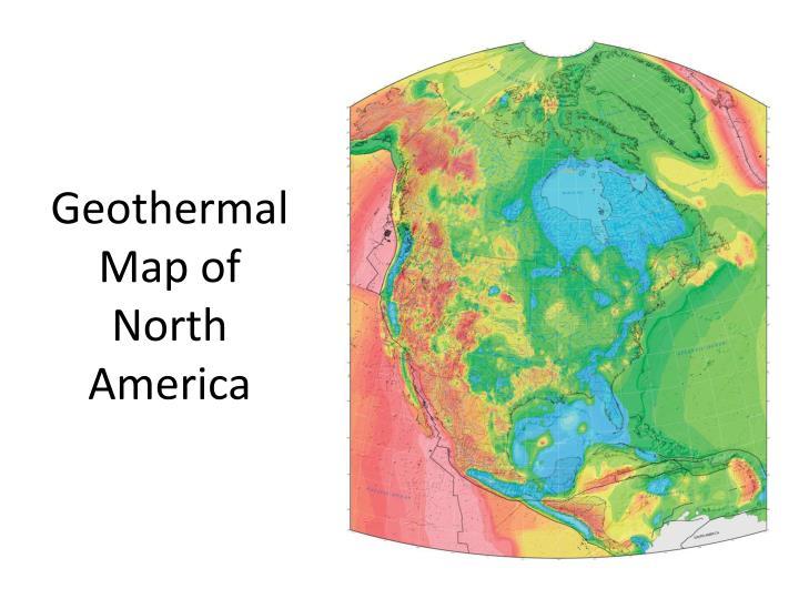 Geothermal map of north america