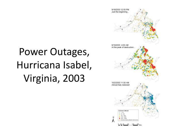 Power Outages, Hurricana Isabel, Virginia, 2003