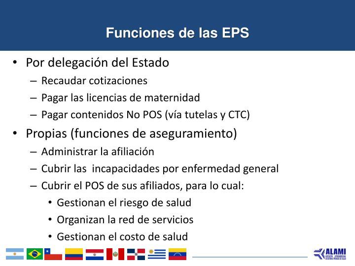 Funciones de las EPS