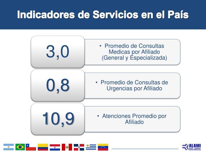 Indicadores de Servicios en el País