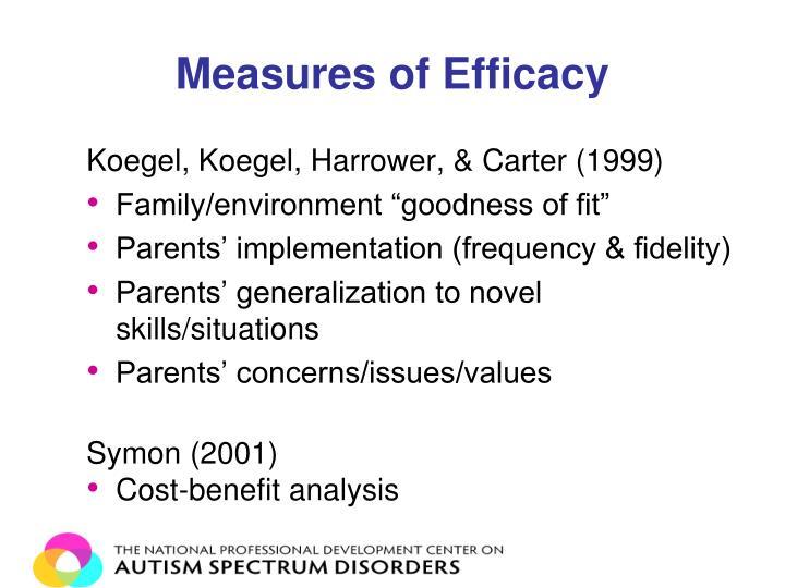 Measures of Efficacy