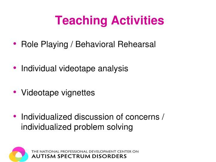 Teaching Activities