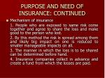 purpose and need of insurance continued1