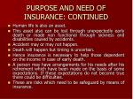 purpose and need of insurance continued2