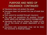 purpose and need of insurance continued3