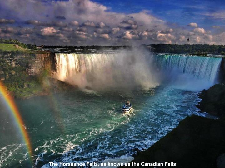 The Horseshoe Falls,as known asthe Canadian Falls