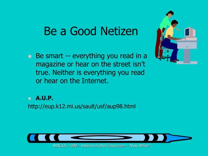 Be a Good Netizen