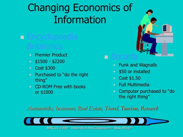 Changing economics of information