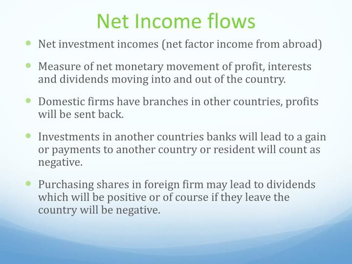 Net Income flows