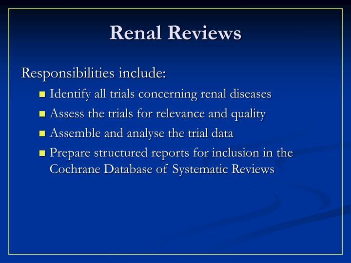 Renal Reviews