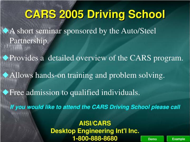 CARS 2005 Driving School