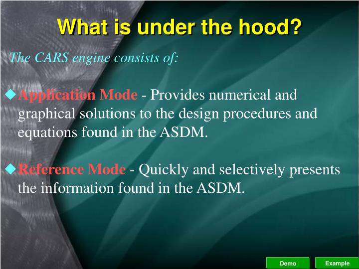 What is under the hood?