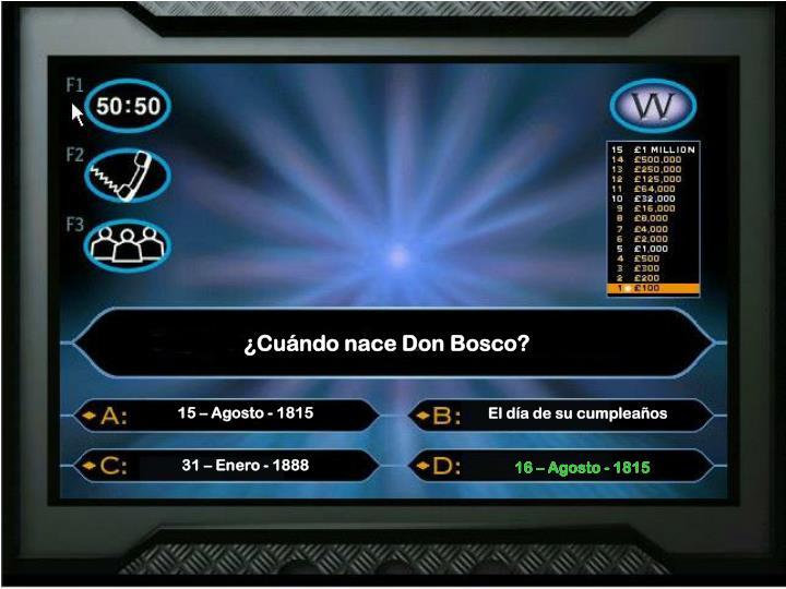 ¿Cuándo nace Don Bosco?