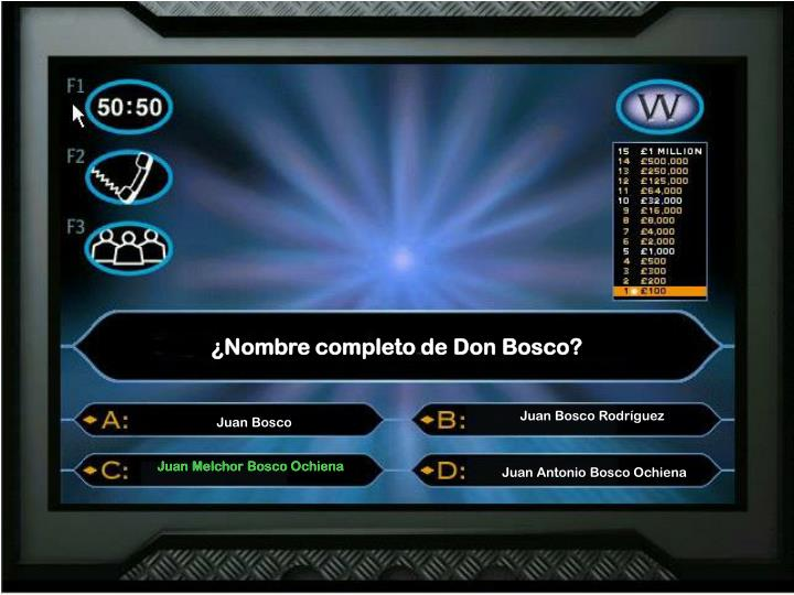¿Nombre completo de Don Bosco?