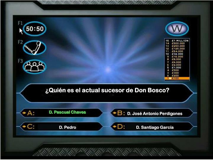 ¿Quién es el actual sucesor de Don Bosco?