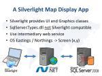 a silverlight map display app