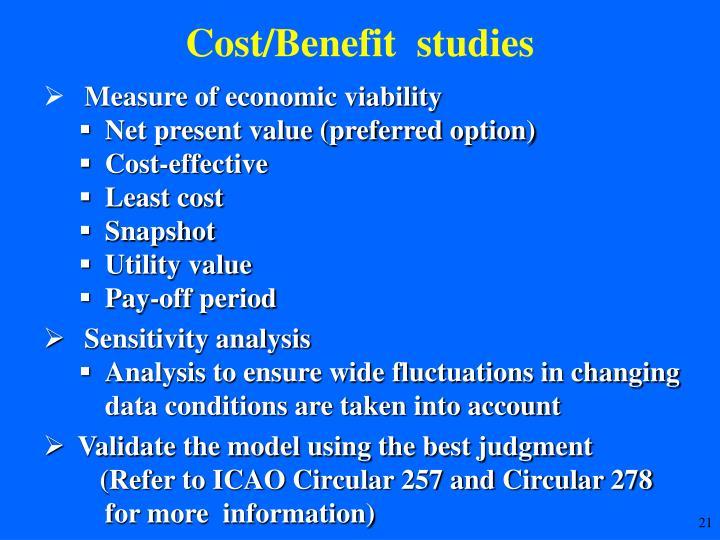 Cost/Benefit  studies