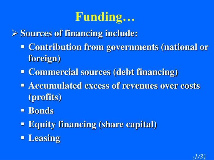 Funding…