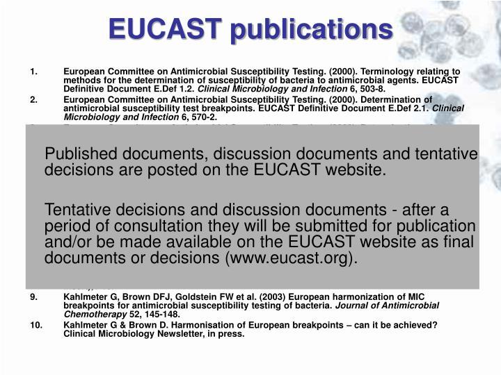 EUCAST publications