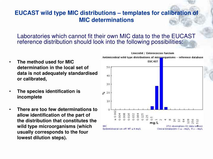 EUCAST wild type MIC distributions – templates for calibration of MIC determinations