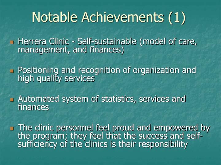 Notable Achievements (1)