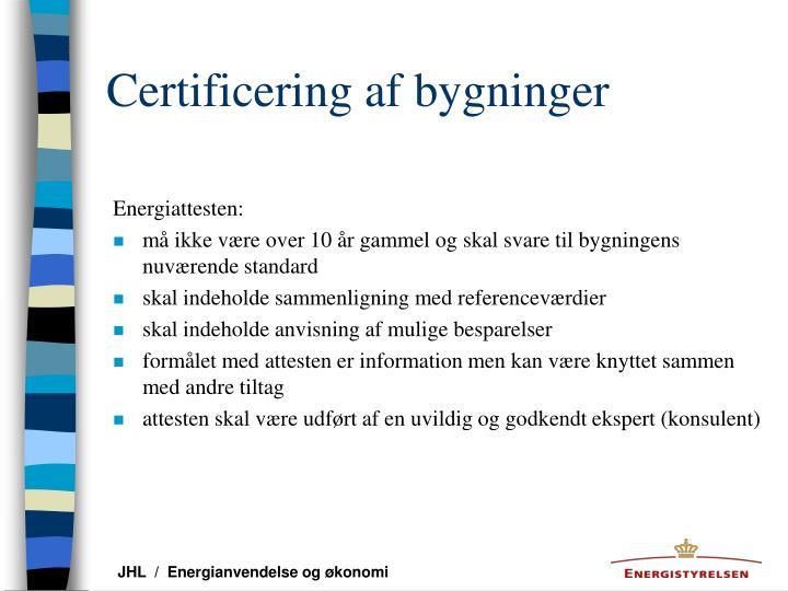 Certificering af bygninger