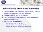 interventions to increase adherence
