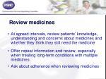 review medicines