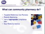 what can community pharmacy do