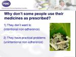 why don t some people use their medicines as prescribed