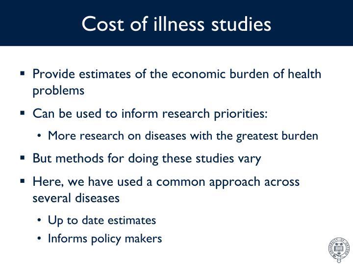 Cost of illness studies