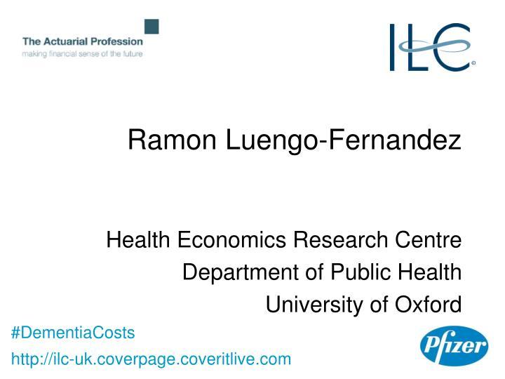 Ramon Luengo-Fernandez
