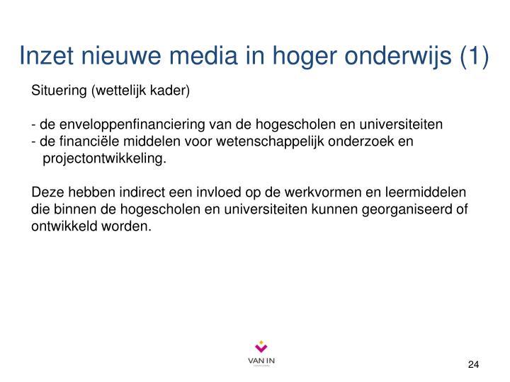 Inzet nieuwe media in hoger onderwijs (1)