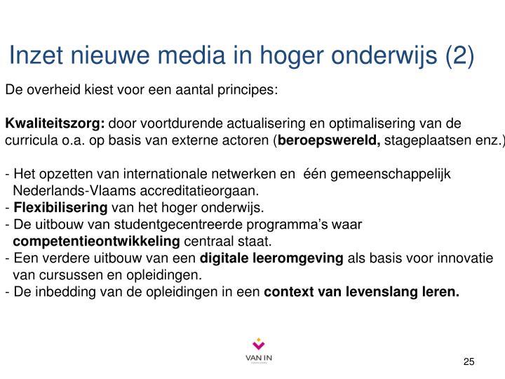 Inzet nieuwe media in hoger onderwijs (2)