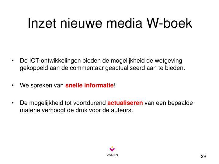 Inzet nieuwe media W-boek