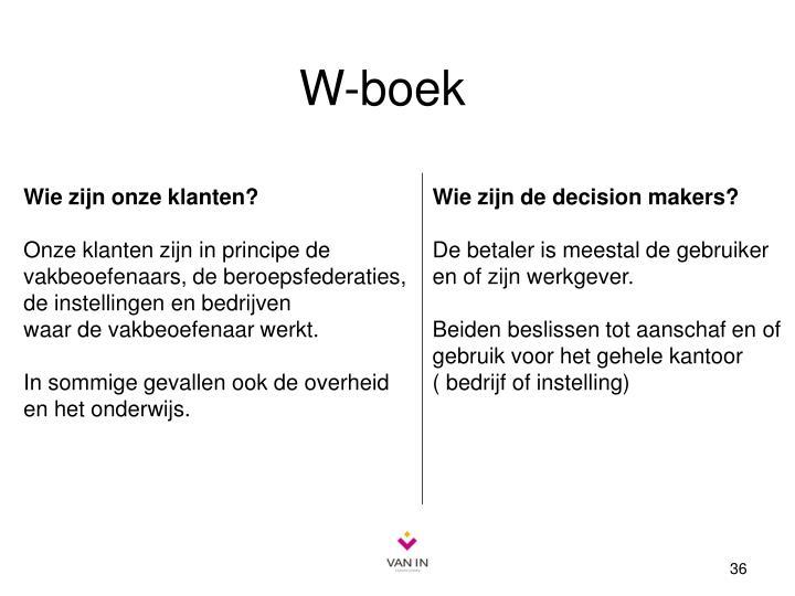W-boek
