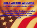 gold award winners locals with 2 increase in density or higher4