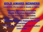 gold award winners locals with 2 increase in density or higher6