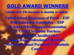gold award winners locals with 2 increase in density or higher7