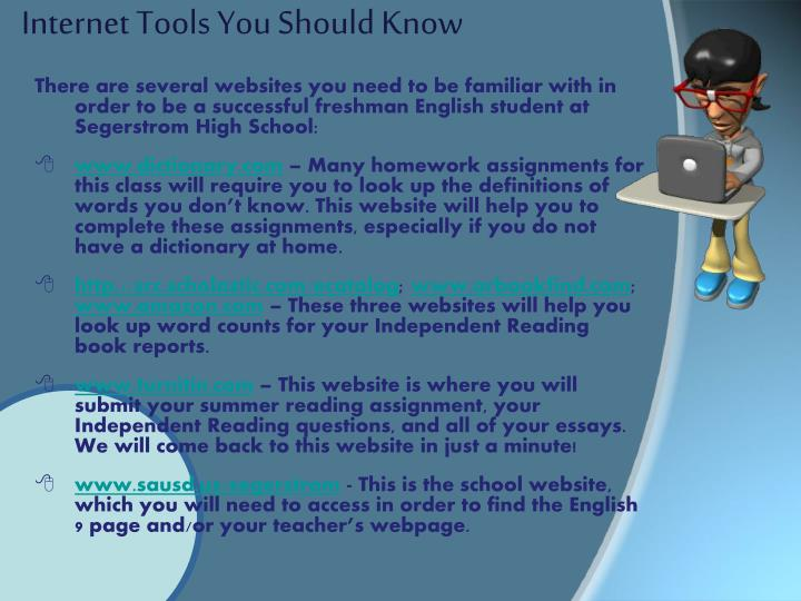 Internet tools you should know