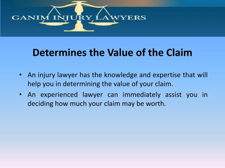 Determines the Value of the Claim