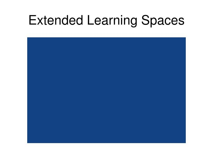 Extended Learning Spaces