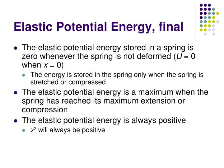 Elastic Potential Energy, final