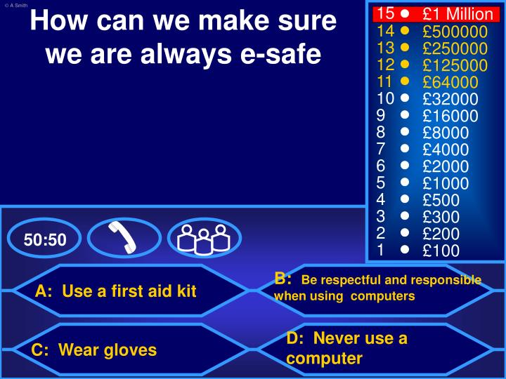 How can we make sure we are always e-safe