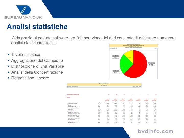 Analisi statistiche