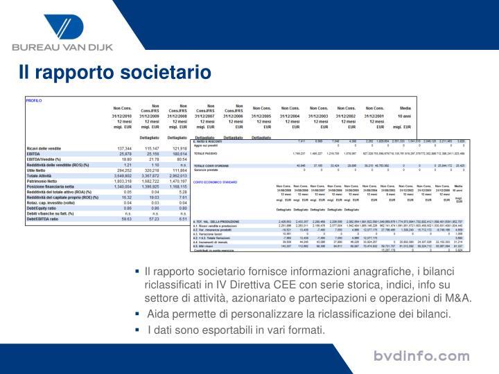 Il rapporto societario