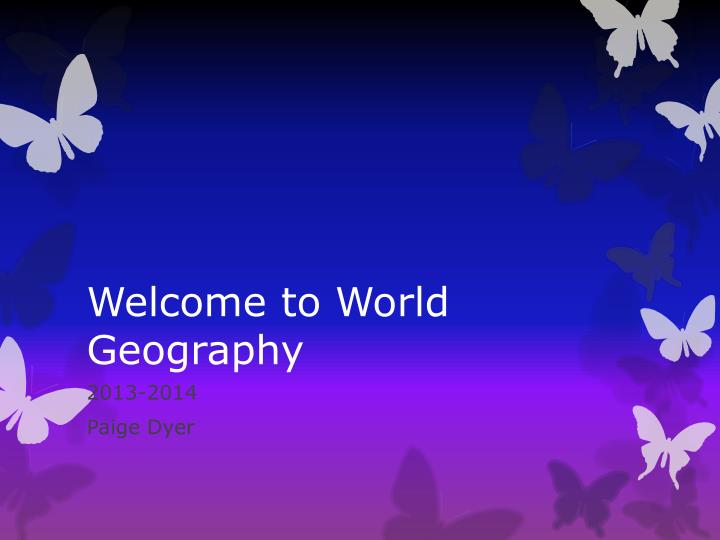 welcome to world geography n.