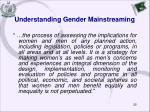 understanding gender mainstreaming