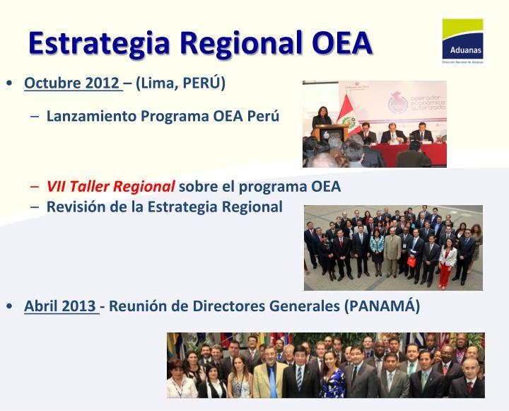 Estrategia regional oea1